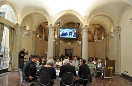 L'incontro nella storica sede dell'Enciclopedia Italiana