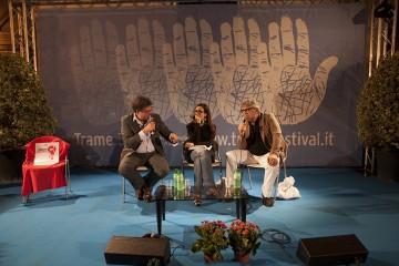 Gaetano Savatteri, Serena Uccello, Giancarlo de Cataldo (foto Mario Spada)
