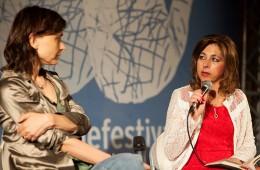 Monica Zapelli con Dora Anna Rocca (foto di Mario Spada)