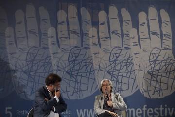 Rosy Bindi e Gaetano Savatteri (foto di Mario Spada)