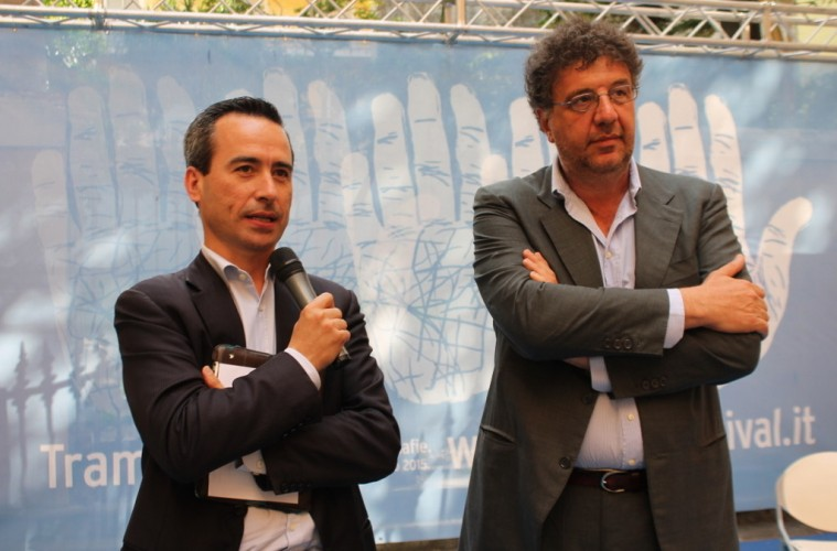 Stefano Ciafani (vicepresidente di Legambiente) e Gaetano Savatteri (foto Mario Spada)