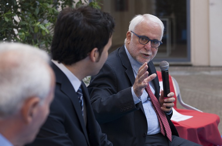 Vincenzo Lombardo (procuratore di Catanzaro), Enzo Ciconte e Antonio Liotta (foto di Mario Spada)