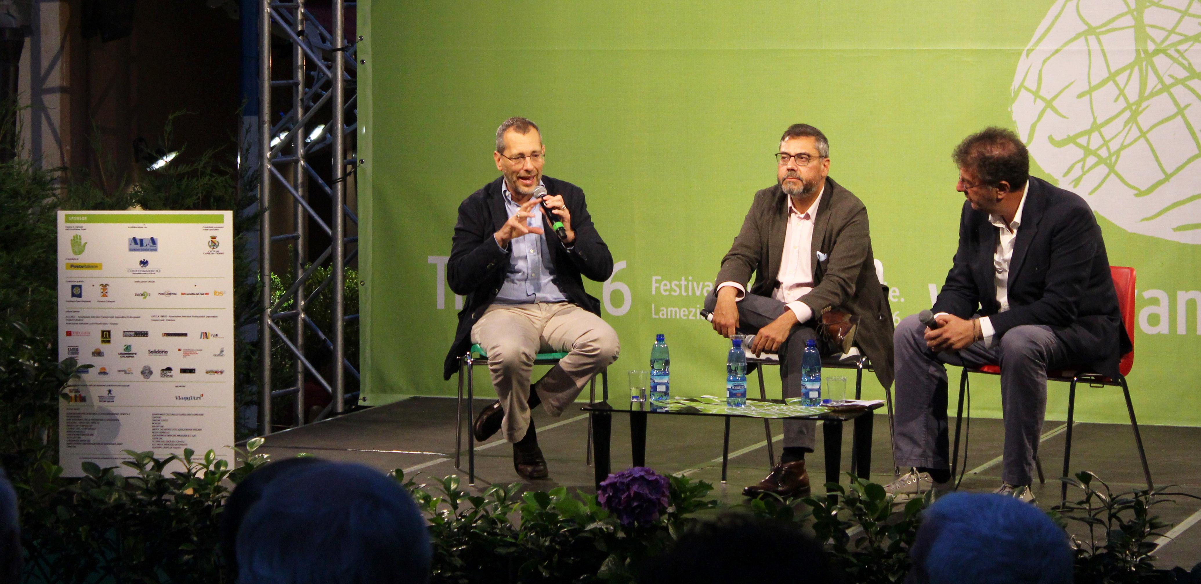 Corrado Formigli, Andrea Vianello, Gaetano Savatteri